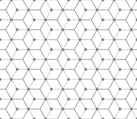 Hexagonal seamless vector pattern