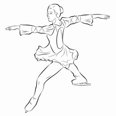 illustration of a figure skater , vector draw