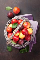 Fresh ripe peaches