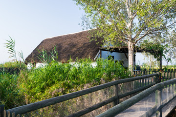 Thatched house at Delta Ebro,Spain,