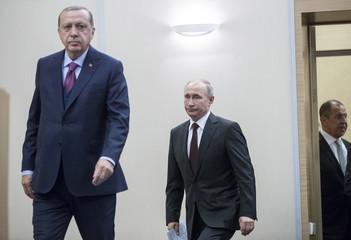 Russia's President Putin, Foreign Minister Lavrov and Turkey's President Erdogan meet in Sochi