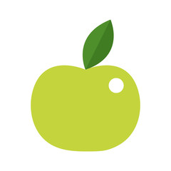 Vector illustration of apple in green colors