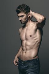 Photo sur Aluminium Akt sexy young man