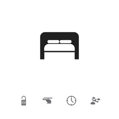 Set Of 5 Editable Travel Icons. Includes Symbols Such As Bedtime, Watch, Do Not Disturb And More. Can Be Used For Web, Mobile, UI And Infographic Design.