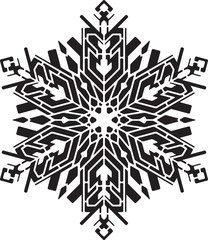 Stencil style snowflake. Can be used as stencil-plate for your color paint or other design.