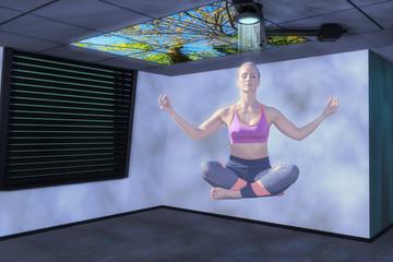 a hologram woman(3d mixed media)