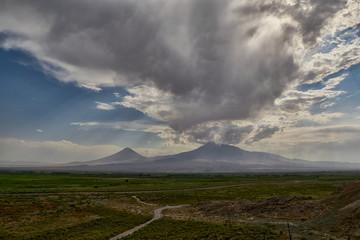 Ararat Mountain near Armenia-Turkish Border