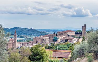 La Valle Verde in the city of Castiglion Fiorentino in Tuscany - Italy