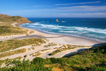 Wall Mural - Beautiful white sand Beach New Zealand