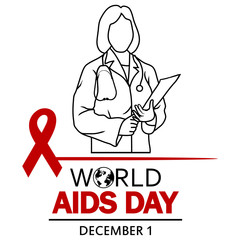 World AIDS Day. 1st December World Aids Day poster