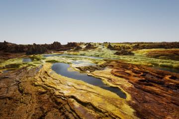 Dallol, Danakil Depression, Ethiopia. The hottest place on earth.