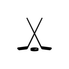 stick and washer icon. Simple winter games icon. Can be used as web element, playing design icon