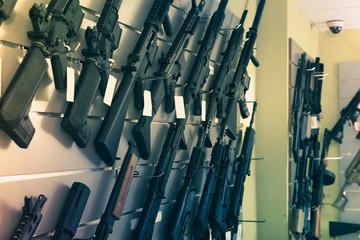 Pneumatic gun in shop