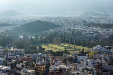 Athènes et l'Olympiéion, Grèce