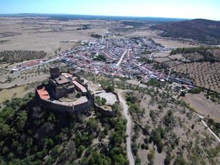 Castillo de Alconchel, pueblo español, perteneciente a la provincia de Badajoz (Extremadura,España)