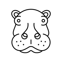 Rhino animals icon logo mammals vector illustration