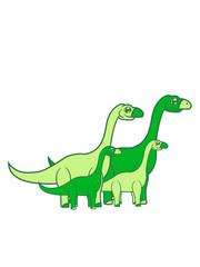 2 kinder paar geschwister mädchen junge pärchen liebe verliebt baby junges mama papa familie langhals süß niedlich klein groß kind comic cartoon dinosaurier saurier dino hals