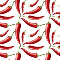 Seamless background with red chili