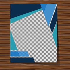 Backdrop design with blue patterns