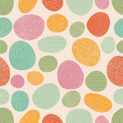 Vector seamless pattern with colorful decorative stones.