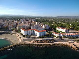 Ametlla de Mar ( Tarragona) desde el aire