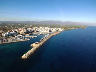 Ametlla de Mar, poblacion costera en Tarrragona (Catalunya, España)
