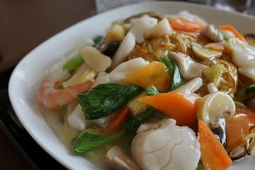 海鮮あんかけ焼そば 中華料理 美味しい