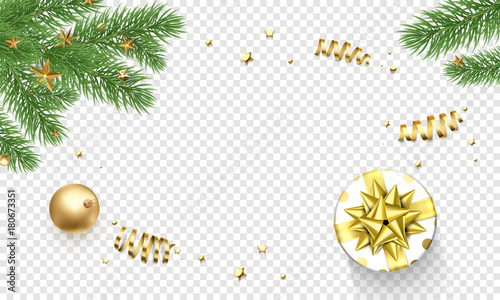 Christmas Greeting Card Template Background Of Holly Leaf Wreath And