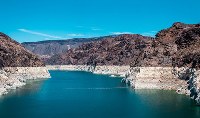 Lake Mead. Reservoir on the Colorado River, Hoover Dam