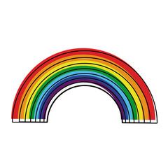 Rainbow colorful design icon vector illustration graphic icon vector illustration graphic design