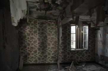 Maison abandonnée à Saint-Trivier-sur-Moignans, Ain, France
