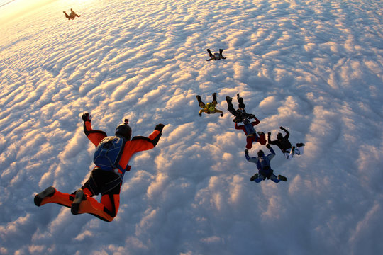 Group skydiving