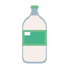 Milk glass bottle icon vector illustration graphic design