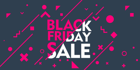 Black Friday sale inscription design banner