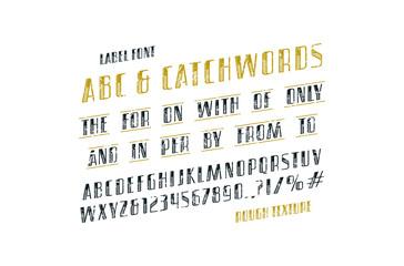 Ornate italic sans serif font and catchwords