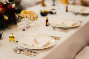 wedding reception table setting