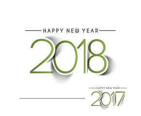 Happy new year 2017 and 2018 Text Design