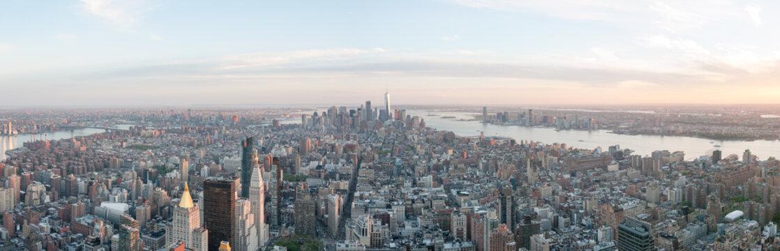 panorama skyline new york