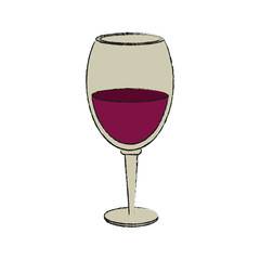 Cup of wine icon vector illustration graphic design