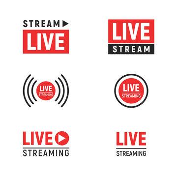 Live streaming symbols set