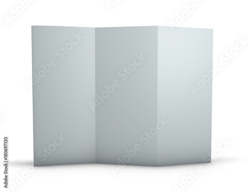 Z Folded Brochure Mock Up Template Stock Photo And Royalty Free