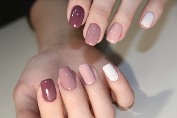 Foto op Canvas Manicure Nail art manicure. Beauty hands.