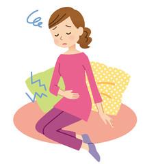 生理痛に悩む女性 PMS