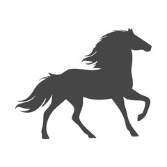 Horse silhouette - Vector - Illustration