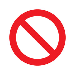 Prohibition circle glyph icon