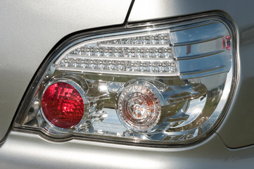 Wall Mural - closeup of rear automobile signal light