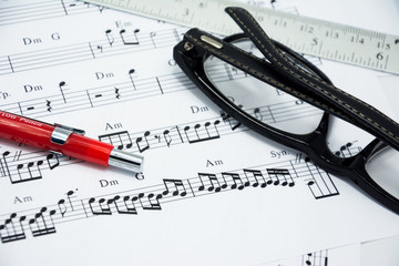 Music note for idea of song