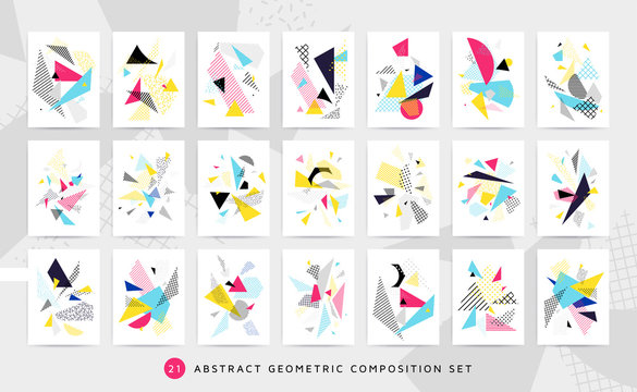 Bright colorful design set vector illustration