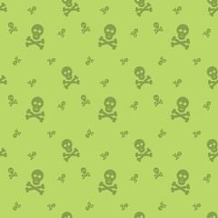 Skull And Bones Halloween Seamless Silhouette Pattern