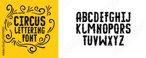 Modern circus alphabet handwritten font letters hand lettering handwritten font letters hand lettering font for your design wedding m4hsunfo